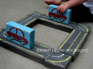 Race Car Building Blocks from Martha Stewart
